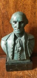 GEORGE WASHINGTON FINE ART BRONZE STATUE ON MARBLE POLICH TALLIX FOUNDRY RARE