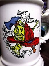1890s FIREMANS MUSTACHE CUP ANTIQUE OCCUPATIONAL ORIGINAL FIRE DEPT MAN OLD RARE