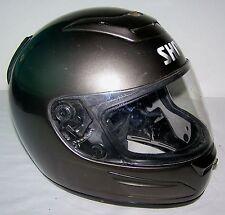 SHOEI Motorcycle Helmet Dark Metallic Gray ADULT SIZE L Large 59-60 cm NO cracks