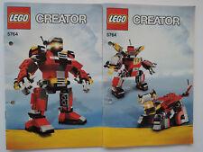 Lego de recette/INSTRUCTION Creator 5764 2 numéros perforées