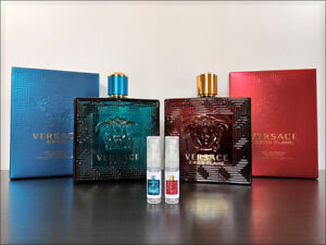 Versace Eros / Flame 2ml Sample Decant Eau The Parfum Sweet Fragrance Men