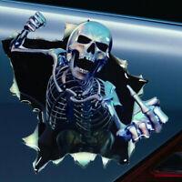 1Pc 3D Skull Car Decal Body Window Bumper Waterproof Reflective Decor Stickers