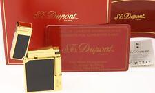 S.T. Dupont Feuerzeug - China Lack / Gold - neuwertig, ohne Gravur - OVP + Zert.