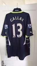 Tottenham Hotspur Spurs Navy 2010/2011 William Gallas Away Shirt Jersey - XL