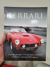 Ferrari hard cover book. Mint new