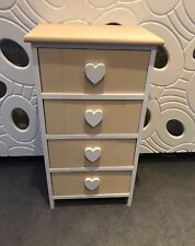 Storage Cabinet Chest Of Draws 4 Drawers Shabby French Chic Vintage Children's 1