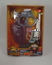 4 Pc Kids Wild West Outfitters Electronic Light Sound Pistol Toy Gun Handcuff #6