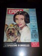 EPOCA 1958 n°398 - Rivista - Audrey Hepburn - Platters - Lea Massari