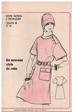 ▬► PATRON Écho de la Mode - Robe T38 à 42 - N°37 de 1973