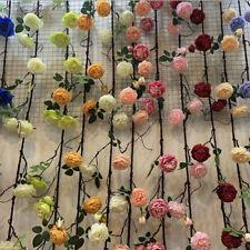 Artificial Silk Peony Flower Ivy Vine Hanging Garland Wedding Party Decor