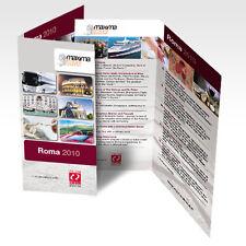 Stampa 1000 Pieghevoli Depliant 2 ante F.to 10x21 cm a colori carta da 115 gr/m