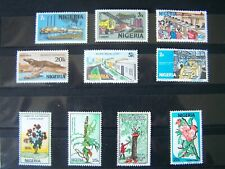 NIGERIA,10 DIFFERENT U/MINT STAMPS,EXCELLENT.