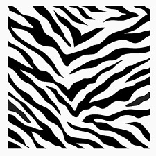 "11 1/2"" ZEBRA PRINT STENCIL ANIMAL PRINTS TEMPLATE CRAFT PAINT NEW ART BY TCW"
