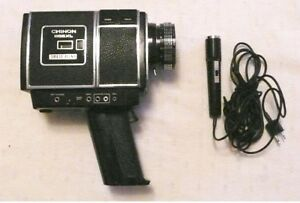 Vintage Chinon 255XL Super 8 - Direct Sound Cine Film Camera with Mic and Case