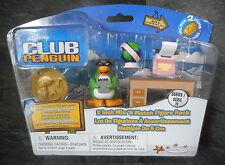 """DISNEY Club Penguin 2"""" Zia ARCTIC con macchina da scrivere da tavolo Globo figura giocattolo Pack"""