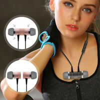 Magnetic Wireless Bluetooth Sport Headphone Neckband Headset Stereo Earphones