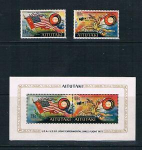 Aitutaki 1975 Apollo-Soyuz Linkup - See Descpt SC 115-116a [SG 148-MS150] MNH