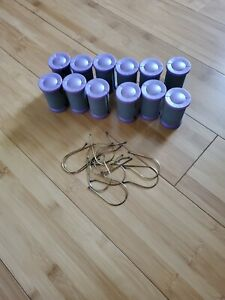 CONAIR ION SHINE 12 Hot Rollers Flocked Hair Curler Set Jumbo Purple REPLACEMENT