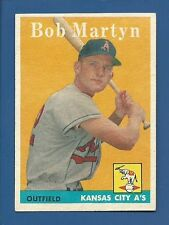 1958 Topps # 39 Bob Martyn - Kansas City A's - EX+/MT - additional ship free