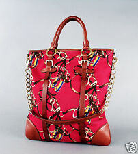 Ralph Lauren Collection Equestrian Print Tote Bag $895 Retail