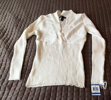 INC Ribbed V Neck Sweater Petite X large  New  099