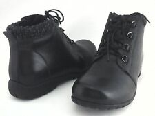 PROPET Ankle Boots DELANEY Black Leather Lace Up Shoes Women's US 10 EU 41 New