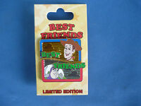 BUZZ and WOODY  Disney Pin  2015  BEST FRIENDS 2 pins one card  LE TOY STORY New