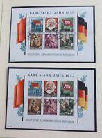 DDR 1949 bis 1964 gestempelte Sammlung fast komplett, DEBRIA, Marx Blocks etc.