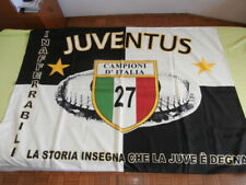 BANDIERA FLAG TIFO STADIO CALCIO FOOTBALL NO SCIARPA JUVENTUS JUVE SCUDETTO 27