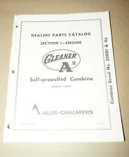 1965 Allis-Chalmers Self-Propelled Engine Dealer Parts Catalog P/N 9003145
