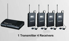 WPM-200 Wireless Monitor System UHF In-Ear Wireless Headphones & Ear 4 Receivers