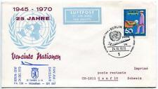FFC 1970 Lufthansa Volo Speciale ONU United Nations UNO Berlino Genf