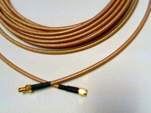 US MADE   SMA plug  TO  SMA jack  MIL- RG-142 coax cable  30 ft  50 ohm