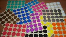 25mm Round Blank Price Stickers - Coloured Labelling Code Dots - Sticky Labels