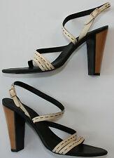 "NEW DONNA KARAN Leather Shoes UK5/EU38/US8 Beige High Heels 4"" Strappy Sandals"