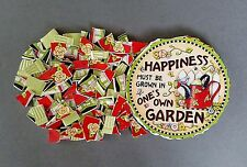 """MARY ENGELBREIT FOCAL + 97 MOSAIC TILES/RIMS """"HAPPINESS....IN ONE'S OWN GARDEN"""""""