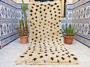 "Vintage Moroccan Rug Handmade Azilal Berber Wool Old Tribal Carpet kilim 6'x2'7"""