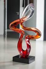 """Abstrait Sculpture """" Endless """" en Transparent harz. Hauteur 80 cm. Handgefertigt"""