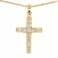 Collares y colgantes de joyería de oro rosa, diamante, religiosos