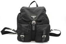 PRADA Backpack Bag Triangle Logo Tessuto Nylon Black 2880h