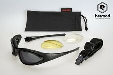 Davida D4Vi9A 74 WRS Sunglasses Motorcycle Goggles Kit - Black
