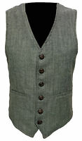 Light * Green Mens Wool Tweed Slim Fitted Vest Waistcoat S M L XL