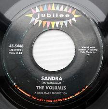 THE VOLUMES doowop 45 SANDRA b/w TEENAGE PARADISE  VG+ Jubilee original FM120