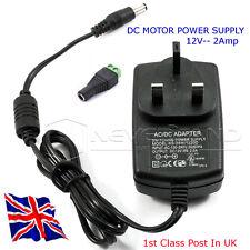 12v DC MOTOR POWER SUPPLY-fornire fino a 2 ampere a 12 VOLT DA RETE ELETTRICA-nel Regno Unito
