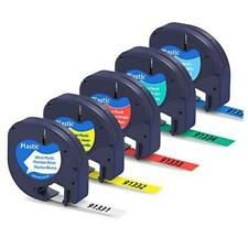 Compatible Label Tape Replacement For Dymo Letratag Label Maker Refills