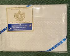 Court Of Versailles Cannon Royal Family Lace Full Flat Sheet New NIP