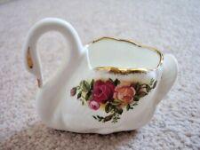 Royal Albert England porcelain  SWAN vase,Old Country Roses
