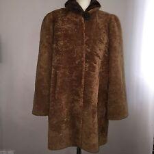 Vintage Lambs Wool Coat 1940s Brown Large