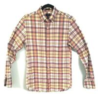 Men's J Crew Slim Plaid Button Shirt Summer Sz XS-Summer Plaid
