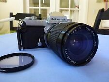 NIKKORMAT FT2 35mm Film camera with ALBINAR-ADG 1:3.9/4.9 f=28-80mm Lens